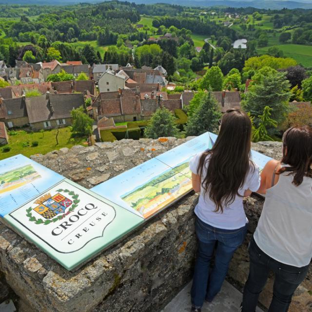 Panorama - Tours de Crocq dans la Creuse