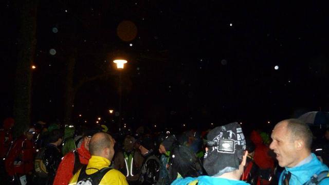 Départ Nocturne 35km Trail Du Loup Blanc, La Creuse