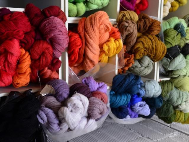 Filature dans la creuse - écheveaux de laine