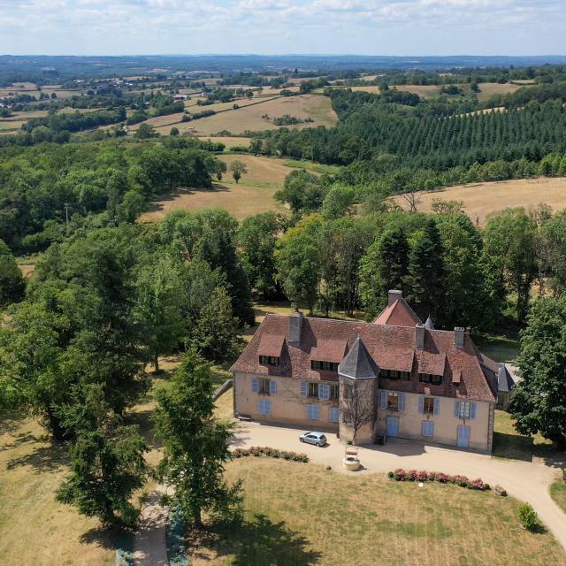le château des Portes à Mainsat