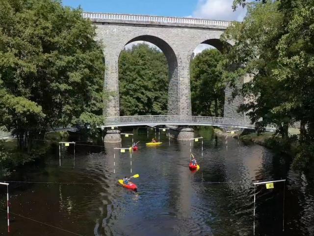 Canoë en Creuse - Viaduc de Glénic