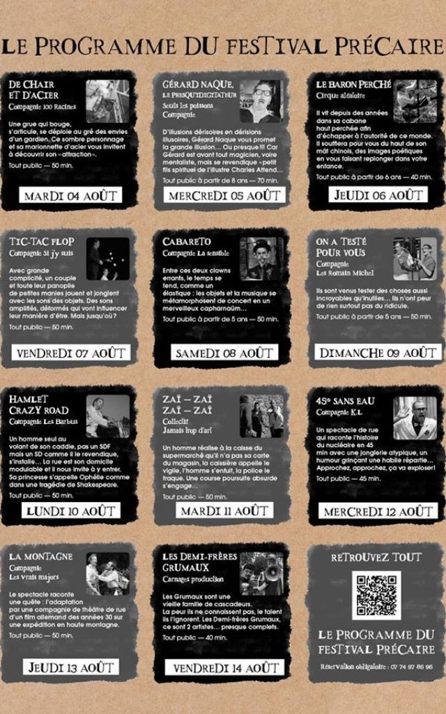 Programme Du Festival Précaire Aubusson