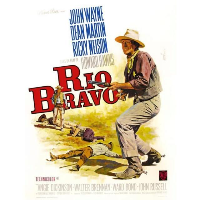 Rio Bravo Reproduction Poster Cinema 60x80