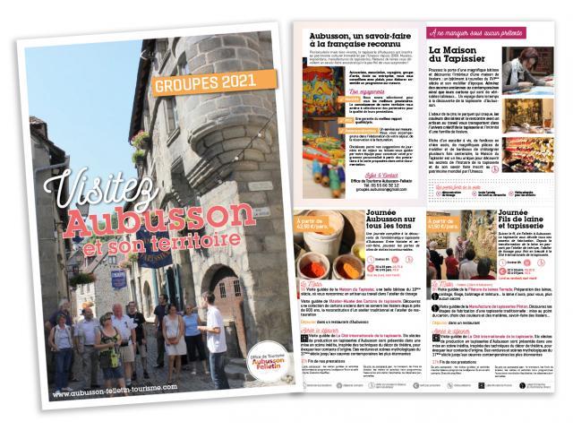 Brochure Groupes Aubusson Felletin 2021