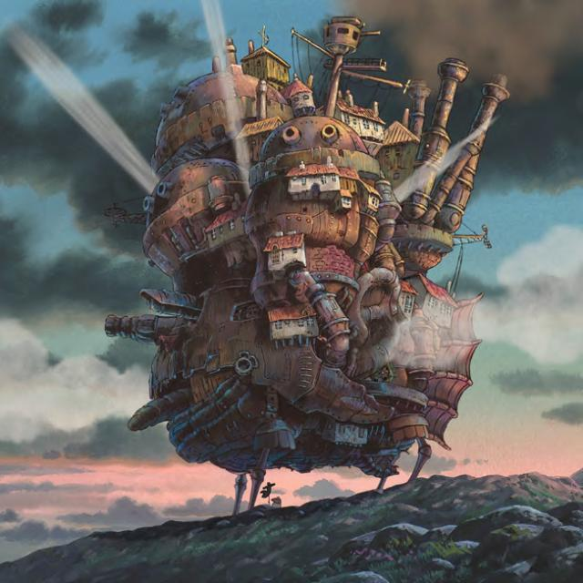 Le Chateau Ambulant (the Moving Castle At Sunset), Projet De Tapisserie De 5 X 5 M. © 2004 Studio Ghibli Nddmt