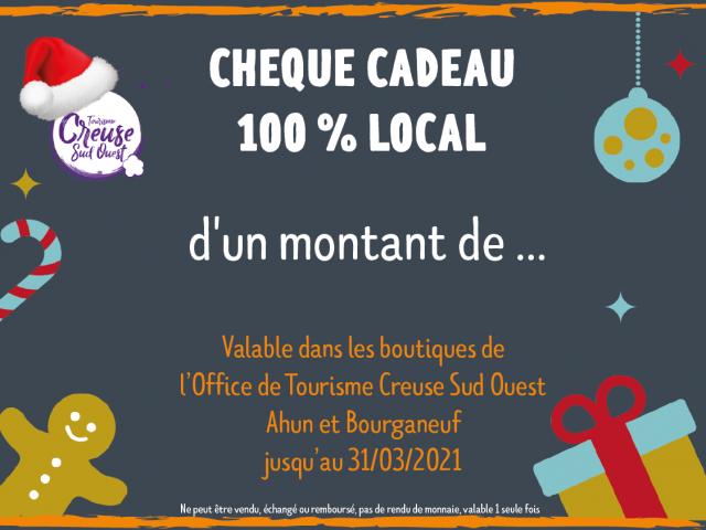 Chèque Cadeau 100 % local OTCSO