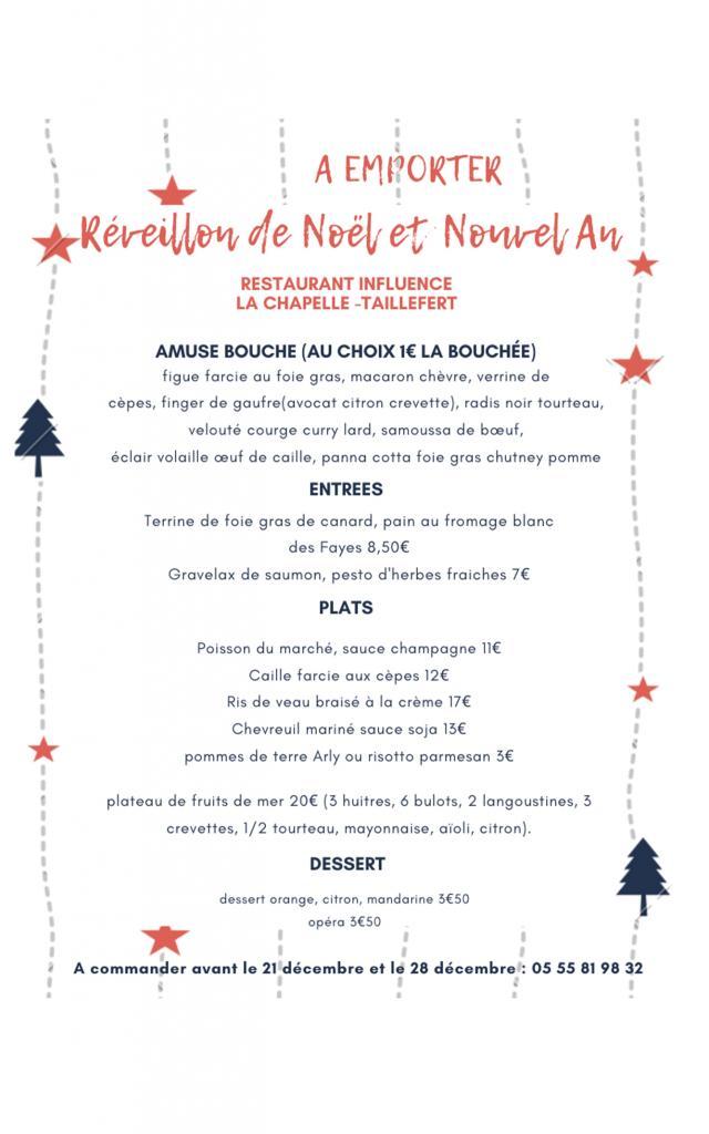 Restaurant Influence La Chapelle Taillefert 1