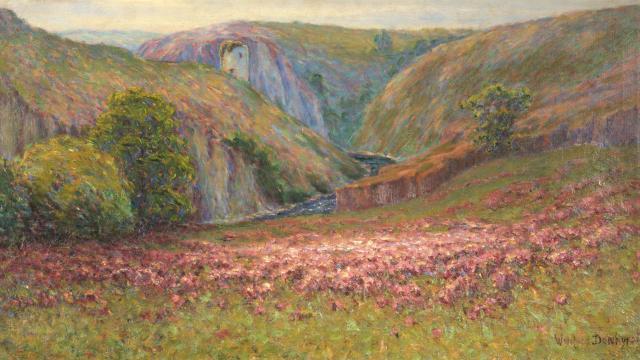 Landes De Bruyère Wynford Dewhurst, Huile Sur Toile, Non Datée Heather Moors Wynford Dewhurst, Oil On Canvas, Undated