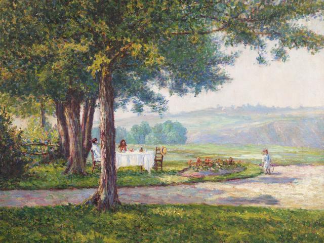 The Park Wynford Dewhurst Huile Sur Toile Non Datee