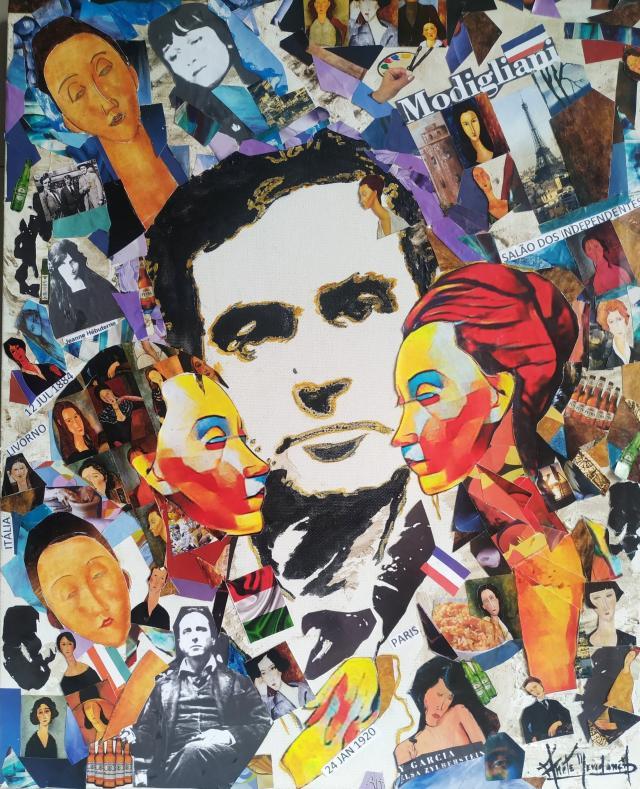 A.mendonca, Modigliani, Portrait De Ma Vie, 50x40