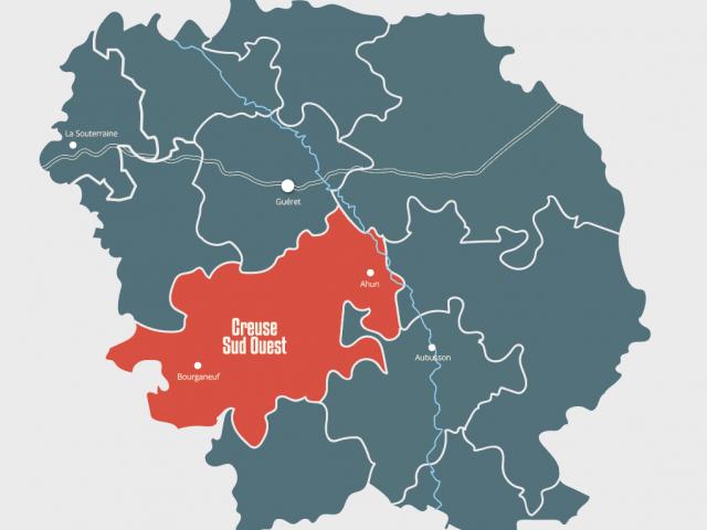 Carte Creuse Sud Ouest