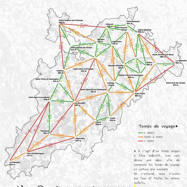Carte se déplacer à vélo - ©Fractale.xyz