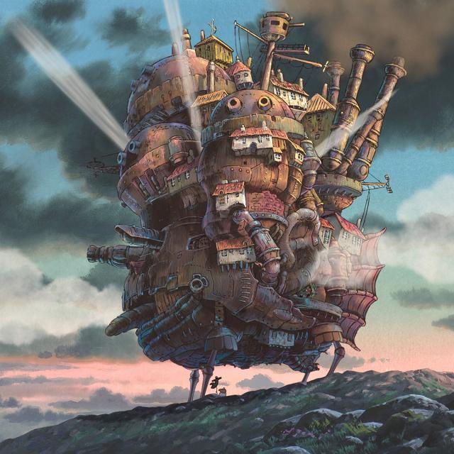 The Moving Castle At Sunset