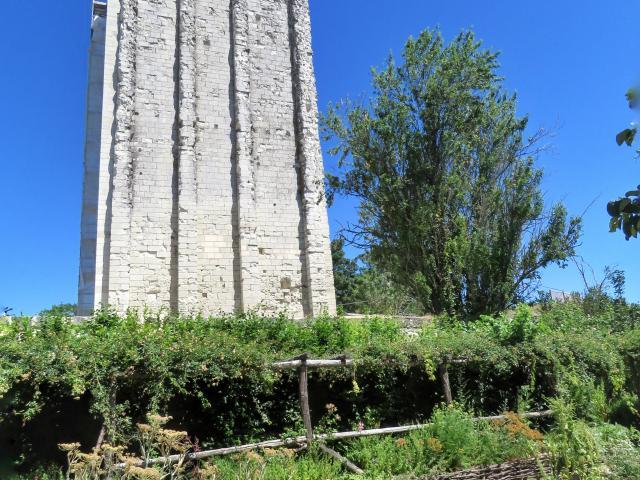 Tour Carrée vue du jardin d'inspiration médiévale
