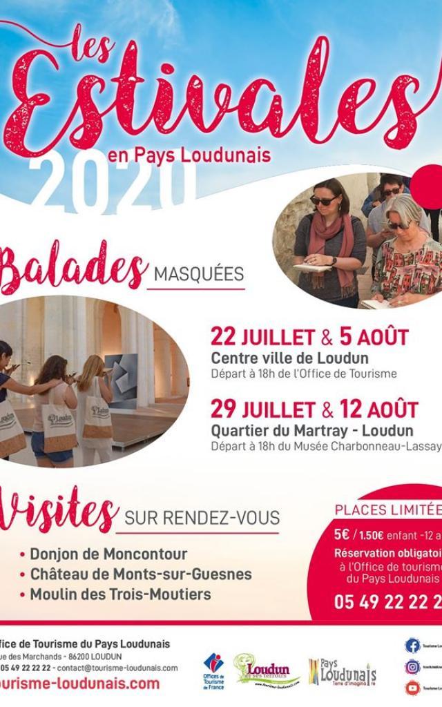 Affiche Les Estivales Balades Masquées 2020