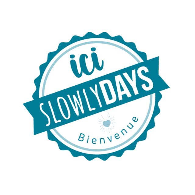 Estampille Slowlydays Fond Blanc