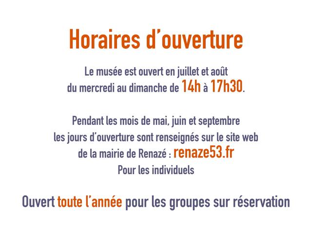 Horaires Musée De L'ardoise Et De La Géologie Renazé