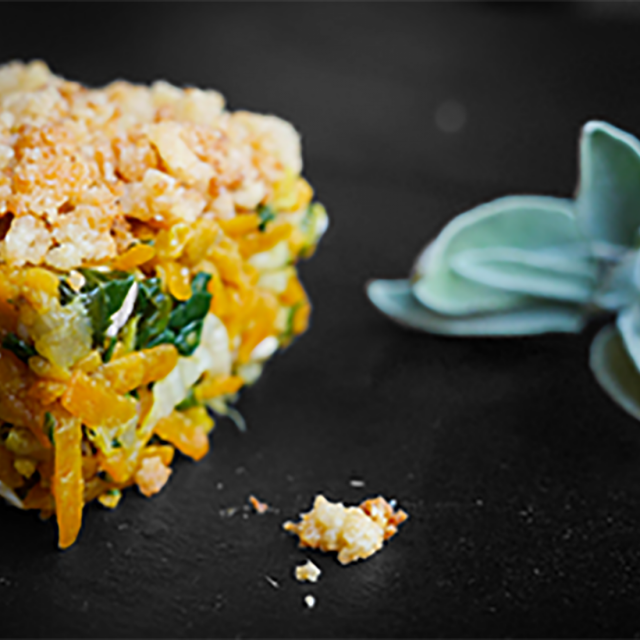 Crumble De Poulet Et Légumes Au Parmesan - Fourchette Academie