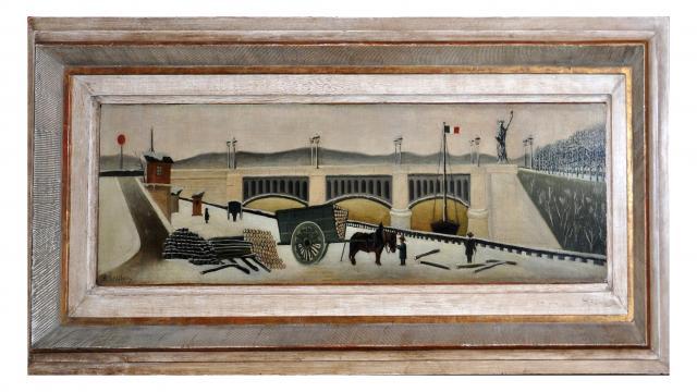 Toile d'Henri Rousseau - Pont de Grenelle - Manas