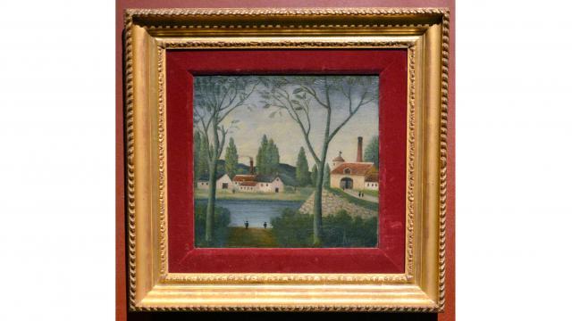 Toile Henri Rousseau Paysage - Manas