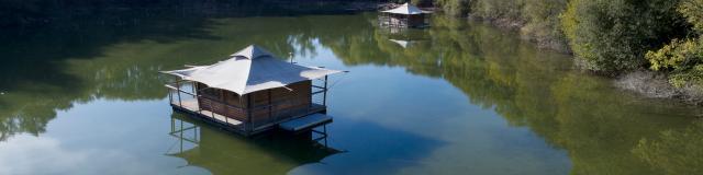 Echologia A Louverne Louverne - cabane sur l eau
