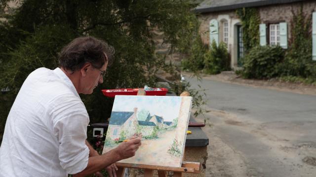 Les peintres dans la rue -Saint Denis D Anjou
