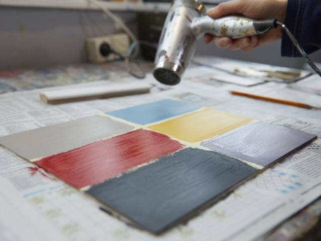 Atelier Peindre la Vie du Bon Côté Art'PeinTube - Sechage