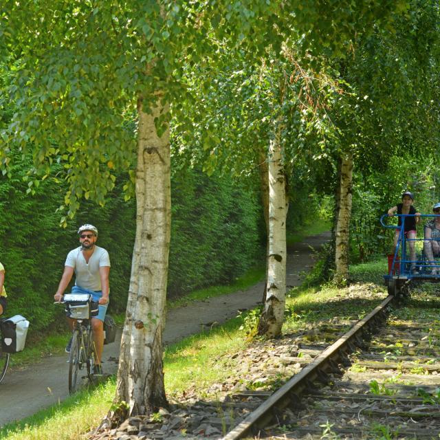 Vélorail - Chemin de Halage - Vélo Francette - Saint-Loup-du-Gast