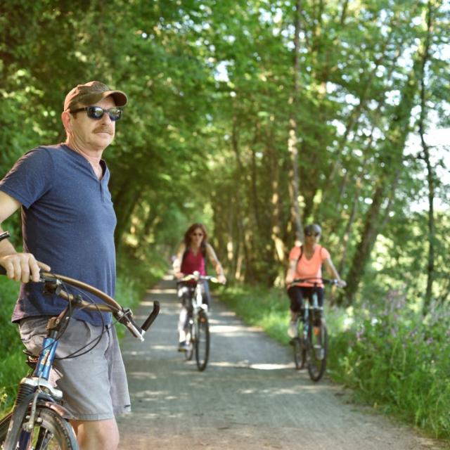 Vélo sur les Voies vertes en haute Mayenne