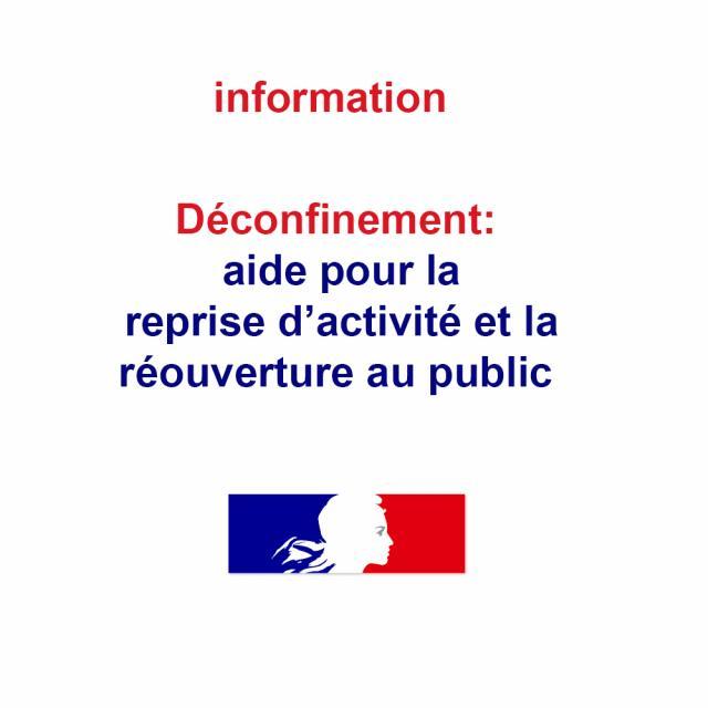 Déconfinement, Les mesures d'aide à la réouverture au public