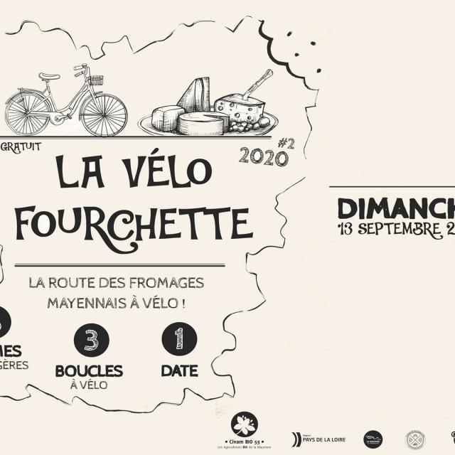 Affiche Vélofourchette