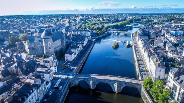 Laval drone la Mayenne Rivières de l'ouest