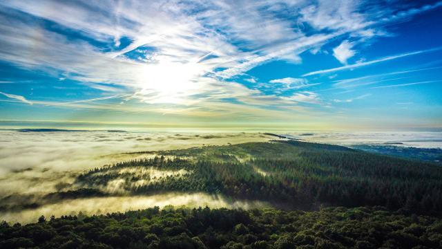 Mont des Avaloirs vu du ciel Mayenne - Drone