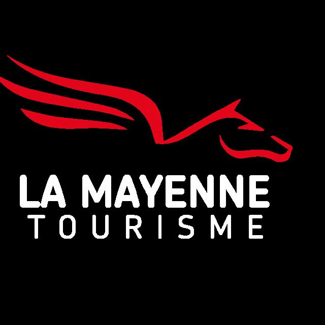 La Mayenne Tourisme Qp Texte logo Blanc