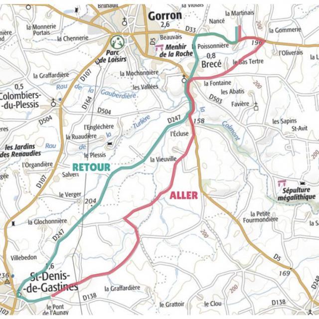 Carte étape 2 vélo fourchette 2021