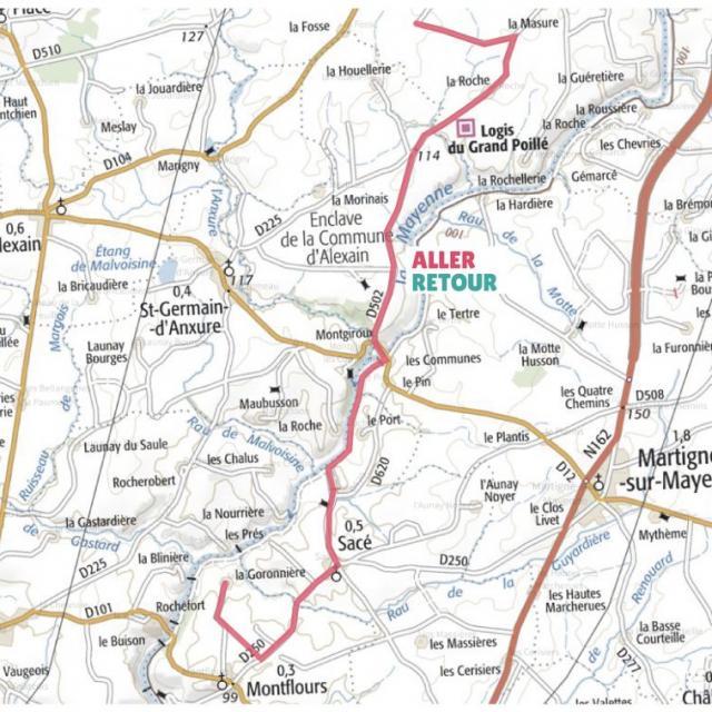 Carte étape 3 vélo fourchette 2021