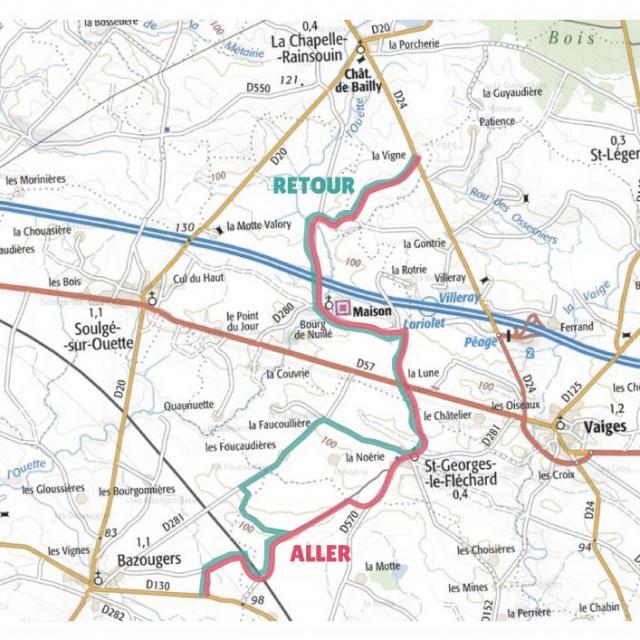 Carte étape 4 vélo fourchette 2021