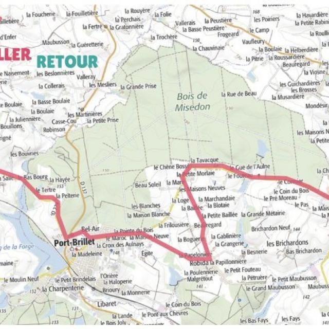 Carte étape 5 vélo fourchette 2021