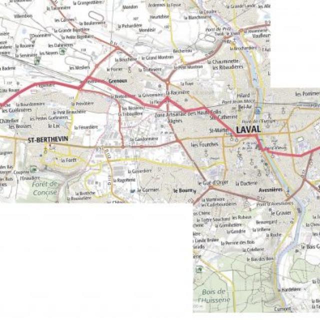 Carte étape 6 vélo fourchette 2021
