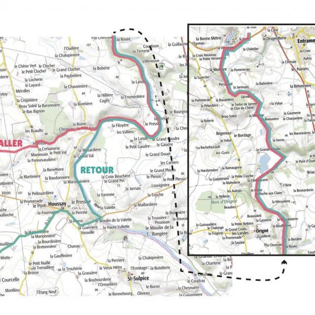 Carte étape 7 vélo fourchette 2021