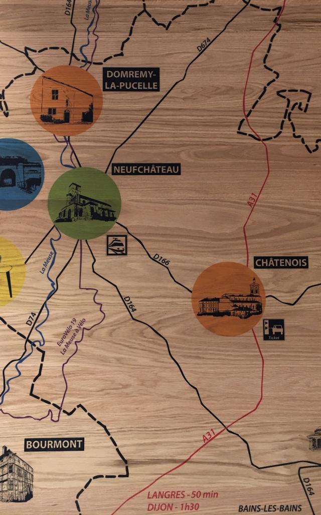 Carte du territoire de l'Ouest Vosgien
