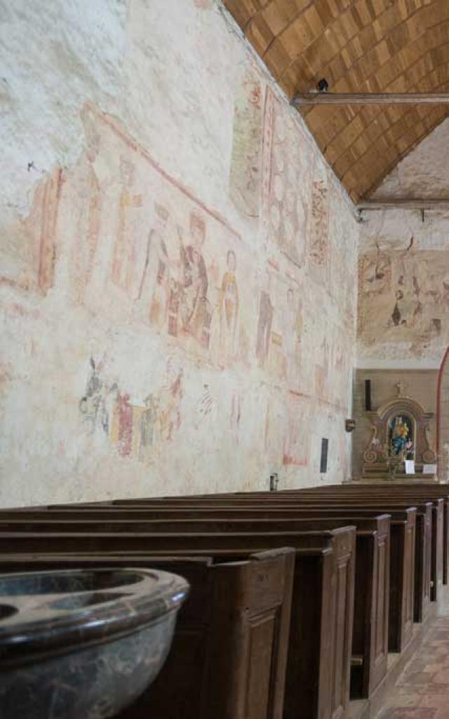 Asnieres Sur Vegre Eglise Peintures Murales