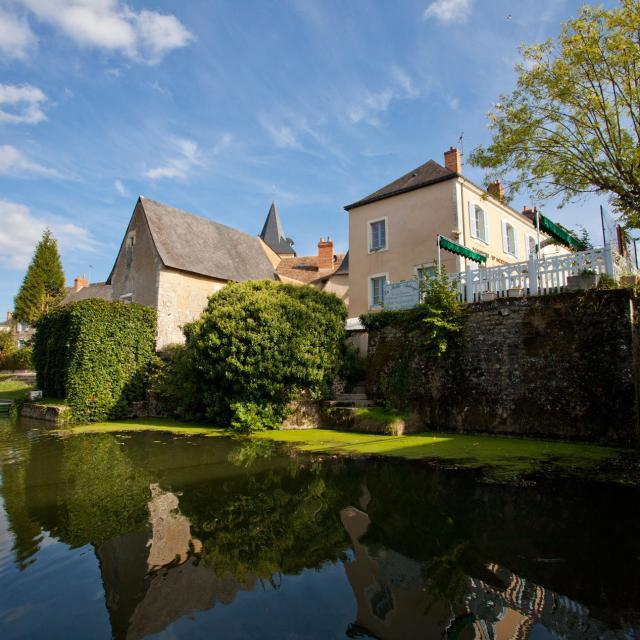 Malicorne-sur-Sarthe - vue de la rivière Sarthe