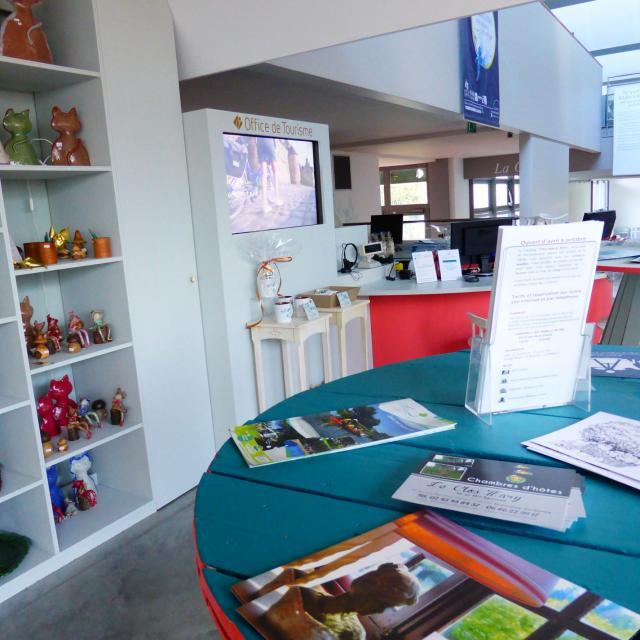 Bureau d'information de Malicorne-sur-Sarthe - côté Boutique