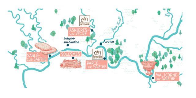 Carte un Week End sur l'eau au départ de Sablé sur Sarthe