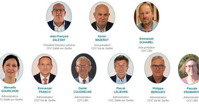 Organigramme du Conseil d'administration de l'Office de Tourisme de la Vallée de la Sarthe
