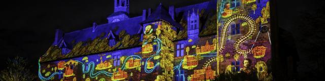 Video Mapping Chateau Ducs De Bourbon Montlucon 04