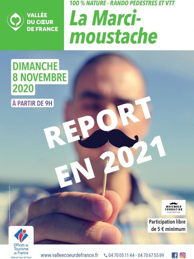 Affiche Marcimoustache 2020 Annulation