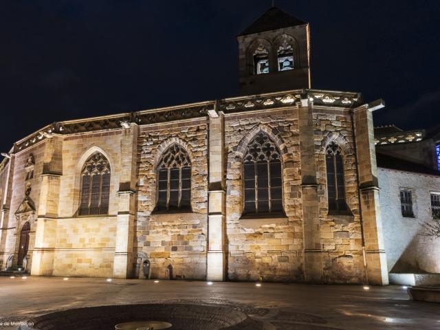 Eglise Notre Dame Montlucon Nocturne Parcours Lumiere 1
