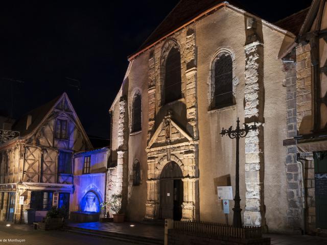 Eglise Saint Pierre Montlucon Nocturne Parcours Lumiere 2